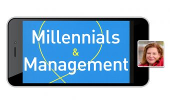 Millennials & Management on iPhone screen